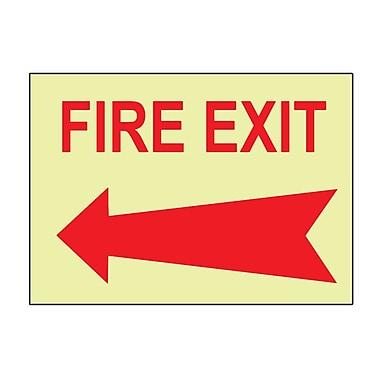 Fire, Fire Exit, Left Arrow, 10