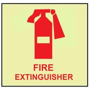 Fire, Fire Extinguisher, Graphic, 7X7, Adhesive Vinylglow