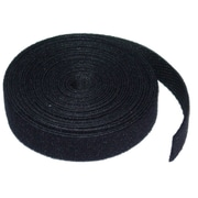 "Mutual Industries Pressure Sensitive Hook Fastening Tape, 1"" x 25 yds., Black"
