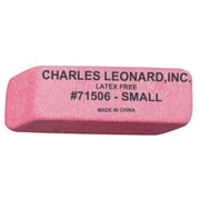 Charles Leonard Small Synthetic Wedge Eraser, Pink