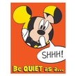"""Eureka® 17"""" x 22"""" Poster, Mickey® Quiet as a Mouse"""