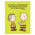 Eureka® 17in. x 22in. Poster, Peanuts® Talk and Listen