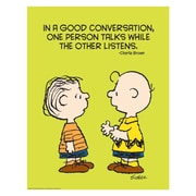 "Eureka® 17"" x 22"" Poster, Peanuts® Talk and Listen"