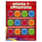 "Eureka® 17"" x 22"" Poster, Scrabble Birthday"
