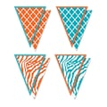 Teacher Created Resources 8 3/4in. x 6 3/4in. Pennants, Orange & Teal Wild Moroccan/Animal Prints