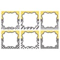 Teacher Created Resources 8in. x 8in. Large Accents, Lemon & Gray Wild Moroccan