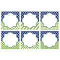Teacher Created Resources 8in. x 8in. Large Accents, Navy & Lime Wild Moroccan