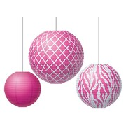Teacher Created Resources Round Paper Lantern, Pink Wild Moroccan