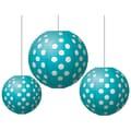 Teacher Created Resources Round Paper Lantern, Teal Polka Dots