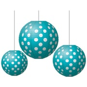 Teacher Created Resources Round Paper Lantern, Teal Polka Dots