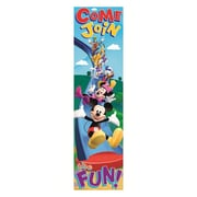 "Eureka 849039 45"" x 12"" Straight Mickey Mouse Clubhouse Banner, Multicolor"
