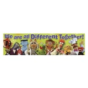"Eureka 849003 45"" x 12"" Straight Muppets Different Together Classroom Banner, Multicolor"