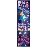 Eureka® PreK - 12th Grade Directions Vertical Banner, Alice In Wonderland