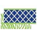 Teacher Created Resources infant - 12th Grade Double Sided Border, Navy/Lime Wild Moroccan