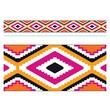 "TREND T-85161 35.75' x 2.75"" Straight Patterns Aztec Orange Bolder Borders, Multicolor"