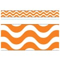 Trend Enterprises® PreK - 12th Grade Bolder Border, Orange Wavy