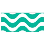 Trend Enterprises® PreK - 12th Grade Bolder Border, Teal Wavy