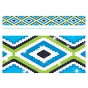 Trend Enterprises® Toddler - 12th Grade Aztec Bolder Border, Blue Sparkle Plus
