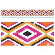 Trend Enterprises® Toddler - 12th Grade Aztec Bolder Border, Orange Sparkle Plus