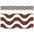 Trend Enterprises® Toddler - 12th Grade Bolder Border, Chocolate Wavy
