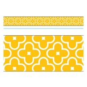 Trend Enterprises® Toddler - 12th Grade Bolder Border, Gold Floral