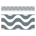 Trend Enterprises® Toddler - 12th Grade Bolder Border, Gray Wavy