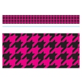 Trend Enterprises® Toddler - 12th Grade Bolder Border, Pink Houndstooth