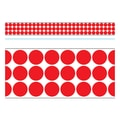 Trend Enterprises® Toddler - 12th Grade Bolder Border, Red Big Dots