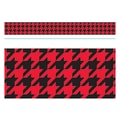 Trend Enterprises® Toddler - 12th Grade Bolder Border, Red Houndstooth