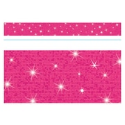 """TREND T-85434 32.5' x 2.75"""" Straight Solid Sparkle Bolder Borders, Hot Pink"""