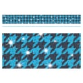 Trend Enterprises® Toddler - 12th Grade Sparkle Plus Bolder Border, Blue Houndstooth