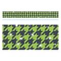 Trend Enterprises® Toddler - 12th Grade Sparkle Plus Bolder Border, Green Houndstooth