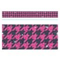 Trend Enterprises® Toddler - 12th Grade Sparkle Plus Bolder Border, Pink Houndstooth
