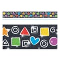 Trend Enterprises® Toddler - 12th Grade Sparkle Plus Bolder Border, Snazzy Shapes