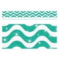 Trend Enterprises® Toddler - 12th Grade Sparkle Plus Bolder Border, Teal Wavy
