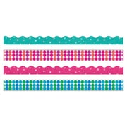 Trend Enterprises® Toddler - 12th Grade Terrific Trimmer & Bolder Border Variety Pack, Dots n Glitz