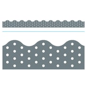 Trend Enterprises® Toddler - 12th Grade Terrific Trimmer, Gray Polka Dots