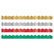 Trend Enterprises® Toddler - 12th Grade Trimmer & Bolder Border Variety Pack, Metallic Jewels