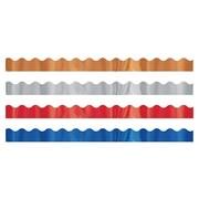 Trend Enterprises® Toddler - 12th Grade Trimmer & Bolder Border Variety Pack, Metallic Shimmer