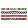 Trend Enterprises® Toddler - 12th Grade Trimmer & Bolder Border Variety Pack, Stripes & Shapes