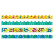 Trend Enterprises® Toddler - 6th Grade Terrific Trimmer & Bolder Border Variety Pack, Sock Monkeys