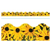 "TREND T-92382 39' x 2.25"" Scalloped Black-Eyed Susans Terrific Trimmer, Yellow"