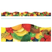 "TREND T-92385 39' x 2.25"" Scalloped Fruit Mix Terrific Trimmer, Multicolor"