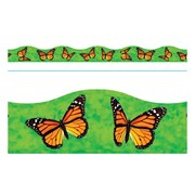 "TREND T-92388 39' x 2.25"" Scalloped Monarch Butterflies Terrific Trimmer, Green"