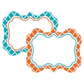 Teacher Created Resources All Grade Label, Orange and Teal Wild Moroccan