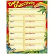 Trend Enterprises® Daily Objectives Discovering Dinosaurs™ Learning Chart, Grade 1st - 8th