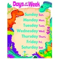 Trend Enterprises® Days of the Week Dino-Mite Pals™ Learning Chart, Grade PreK - 2nd