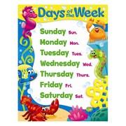 Trend Enterprises® Days of the Week Sea Buddies™ Learning Chart, Grade Prek - 2nd