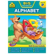 School Zone® Alphabet Big Workbook, Grade Preschool/Ages 3-5