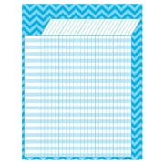 "Teacher Created Resources 17"" x 22"" Large Incentive Chart, Aqua Chevron"